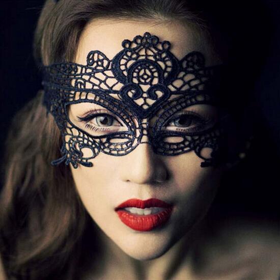 Envío gratis máscara de encaje máscara sin forma sexy fiesta de baile reina ojo hueco # 6102