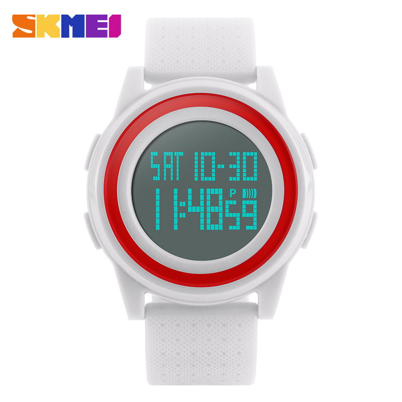 Women Sports Watches <font><b>SKMEI</b></font> Brand Casual Digital Watch Multifunctional Waterproof LED Women's Wristwatches 4COLORS image