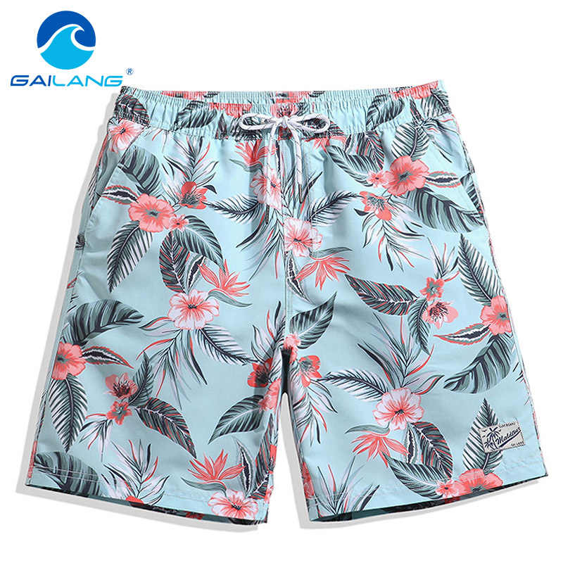 Gailang Brand Men Shorts Board Beach Trunks Shorts Swimwear Swimsuits Mens Boardshorts Sweatpants Bermuda Quick Drying Active