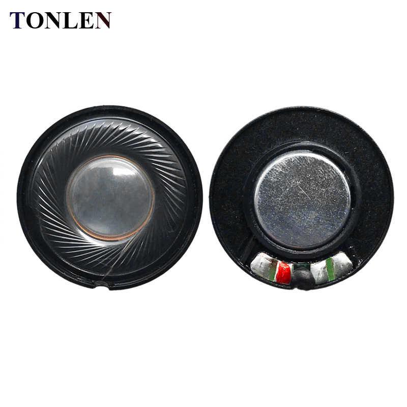 TONLEN 5PCS 30mm 0 5W 32ohm Headphone Speaker Round Headset Horn 32 ohm DIY  HIFI Bluetooth Headphones Speakers Earphone