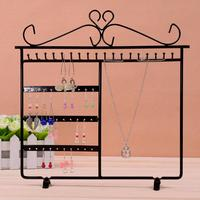 New Fashion 48 Holes Earrings Ear Studs Necklace Jewelry Hanging Display Rack Metal Stand Organizer Holder