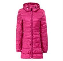 2016 Зимняя Куртка Женщины тонкий мода твердые плюс размер с капюшоном куртка Женщин случайные Длинный Пуховик Для Женщин Зимнее Пальто куртка