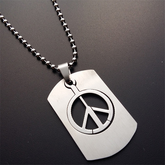 Er minimalism peace sign pendant charm simple peace symbol necklace er minimalism peace sign pendant charm simple peace symbol necklace 316l titanium steel beads chain jewelry aloadofball Images