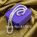 Top Real pearl Bead 45cm length Natural pearl AAA 8-9mm highlight Fashion pearl Handmade Necklaces women Jewelry Party Gift