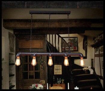 Retro nostalgia lighting fixtures industrial water wind creative Vintage restaurant dining room chandelier lustres pendientes