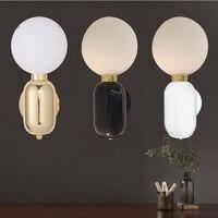 Modern Glass Wall Light Designer Glass Ball LED Wall Lamp For Home Decor Wall Mounted Lighting Fixture