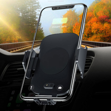 Fast Qi Car Wireless Charger for iPhone X XS 8 Samsung Infrared Sensor Phone Holder Air Vent Mount Mobile Stand