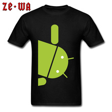 Personalized Android Robot Green Design Mens T Shirts Printing New Arrival Top Quality Clothing Shirts Man Loose T-Shirt Large