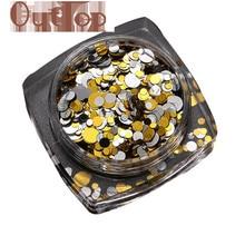 Graceful 1.5g Hot Fashion Mixed Mini Round Thin Nail Art Glitter Paillette Nail Tip Bottle Nail art Decoration Manicure NOV30