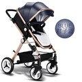 Carrinho de bebê luz carrinho de criança carrinho de criança portátil pode sentar pode mentir dobrar alta paisagem carrinho de bebê