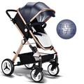 Stroller light portable stroller can sit can lie baby stroller fold high landscape baby carriage