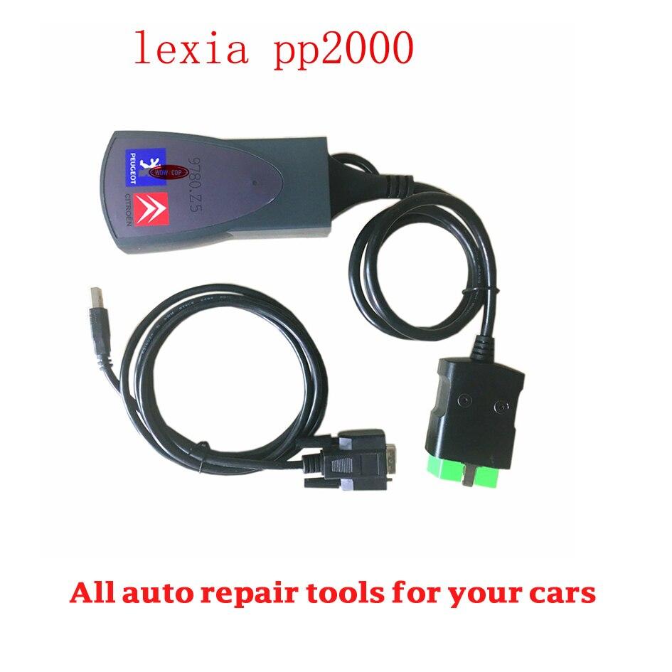 Цена за С новым Diagbox Lexia 3 PP2000 V48 для Lexia инструмент диагностики Lexia-3 PP2000 V25 с muliti-язык Бесплатная доставка