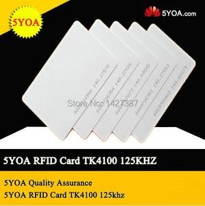 Image 3 - 5YOA 100pcs EM4100 125khz ID Keyfob RFID Tag Tags llaveros llavero Porta Chave Card Key Fob Token Ring Proximity Chip