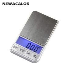 NEWACALOX 500 г х 0.01 г Карманный Точные Цифровые Весы для Золота Стерлингового Серебра Ювелирные Изделия 0.01 Электронные Весы