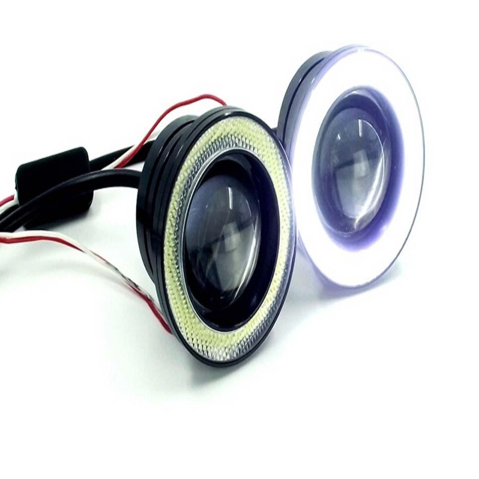 A Pair Of 12V/10W 2.5 inch LED Fog Light with Lens and Angel eyes hardy t a pair of blue eyes пара голубых глаз роман на англ яз