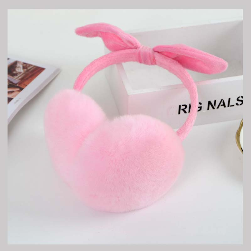 Ms.MinShu Girl's Cut Earmuffs Real Rex Rabbit Earmuffs Women Earflap Cute Ladie's Ear Muff Natural Fur Ear Warmer