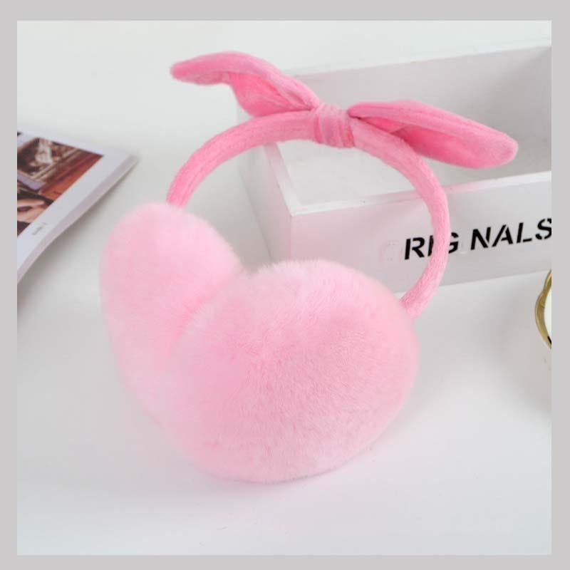 Ms.MinShu Girl's Cut Earmuffs Real Rex Rabbit Earmuffs Women Earflap Cute Ladie's Ear Muff Natural Fur Ear Warmer