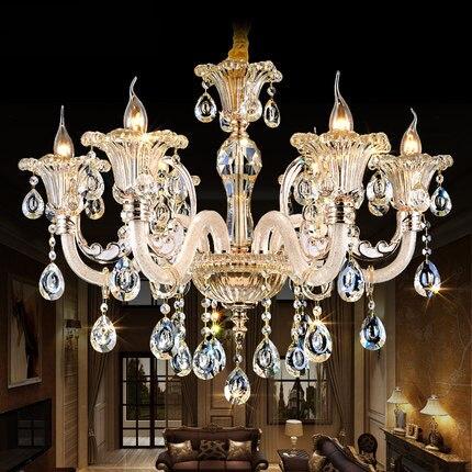 Champagne color crystal chandelier casa para vivir comedor lmpara champagne color crystal chandelier casa para vivir comedor lmpara luces del dormitorio de cristal lmpara led aloadofball Images