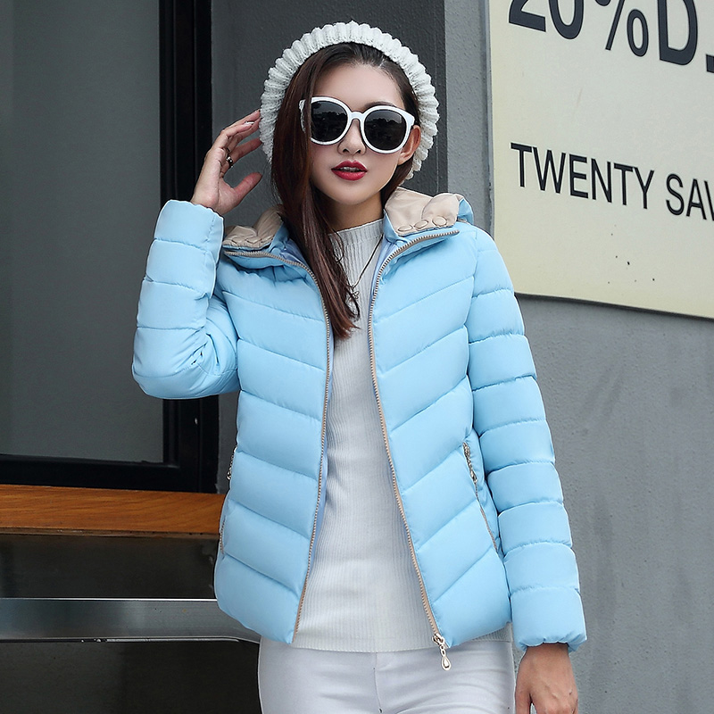 2018 Fashion Maternity winter Thickening the warm cotton-padded clothes/women pure slim Casual jacket hooded coat parka CF5 real fox fur warm hooded padded jacket women solid color casual manteau femme hiver medium long parka slim coat cotton tt3461