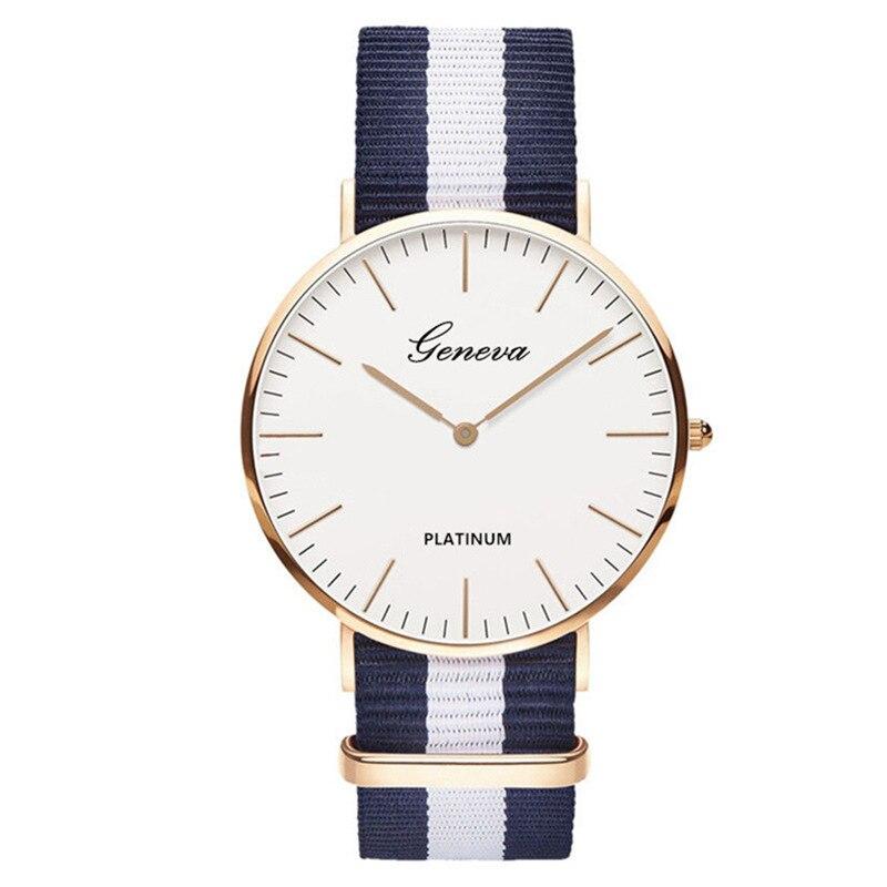 Women Watches 2019 Hot Sale Nylon Strap Style Quartz Watch Fashion Casual Ultra-thin Lady Women Wrist Watch Clock Relojes Mujer