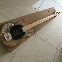 High quality, left hand four string electric bass, LED light, factory wholesale and retail Acrylic crystal Bass
