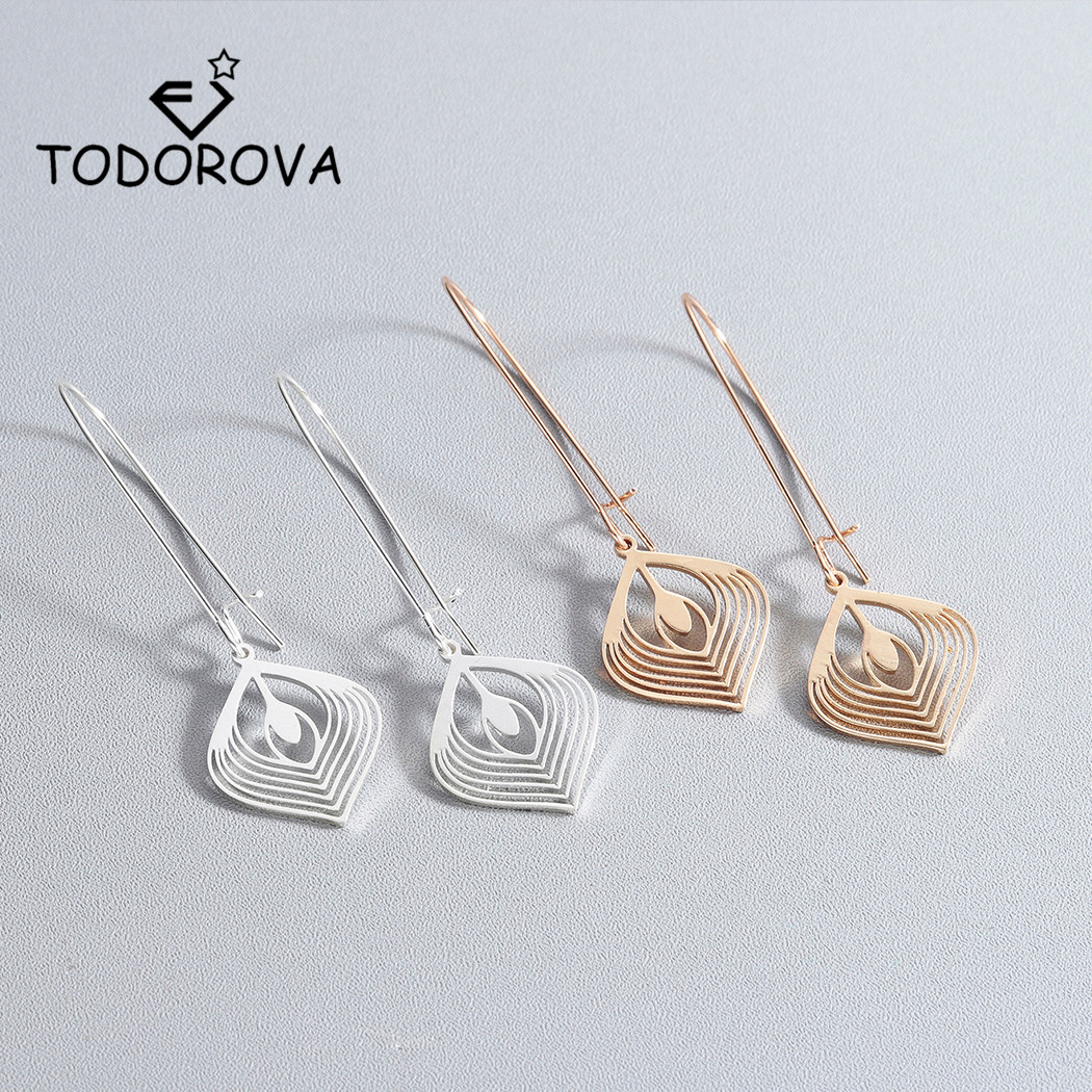 Todorova Simple Creative Metal Geometric Drop Earrings for Women oorbellen Alloy Geometric Earring Jewelry Gift boucle doreille
