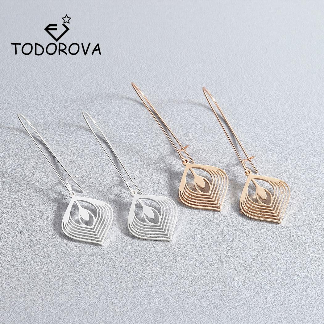 Todorova Simple Creative Metal Geometric Drop Earrings for Women oorbellen Alloy Geometric Earring Jewelry Gift boucle doreille
