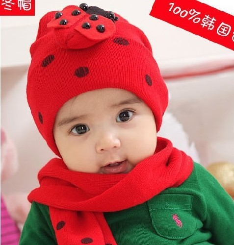 da517dfd8 US $4.78 8% OFF Wholesale and Retail Fashion baby hat baby cap cartoon  headress scarf &cap set winter design-in Men's Skullies & Beanies from  Apparel ...