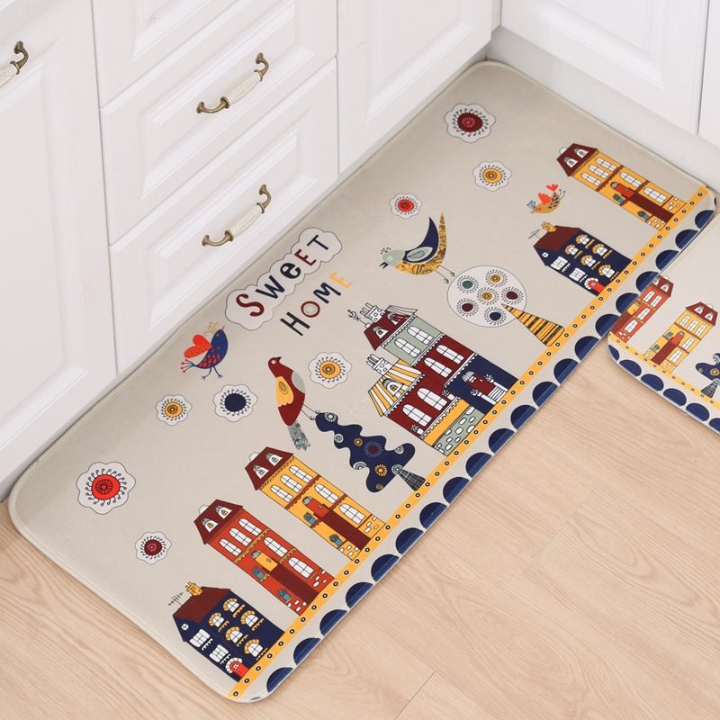 cartoon animallatest 2016 kitchen mat modern bathroom carpet entrance doormat kid room tapetechina - Kchen Tapeten Modern