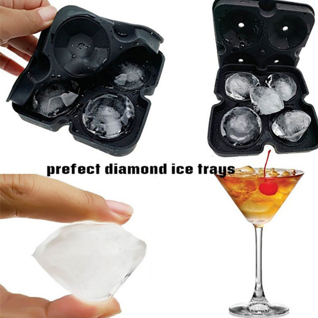 3D Diamond Shaped Ice Maker Mold