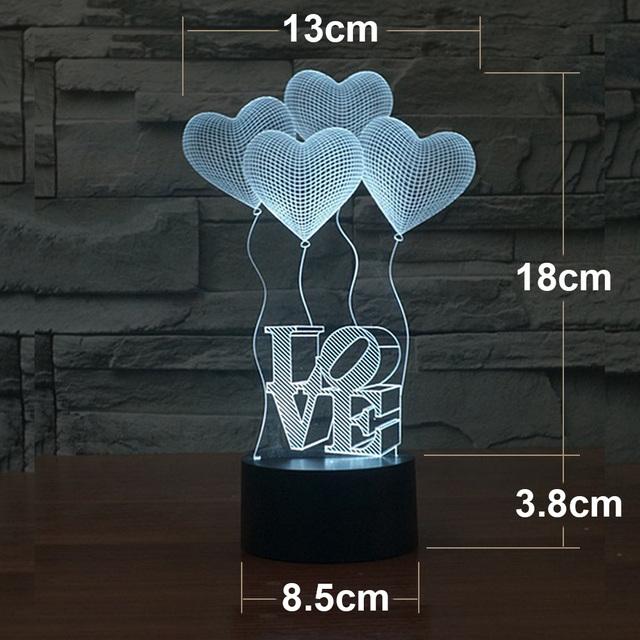 Romantic 3D LED Table Lamp NEW 2017