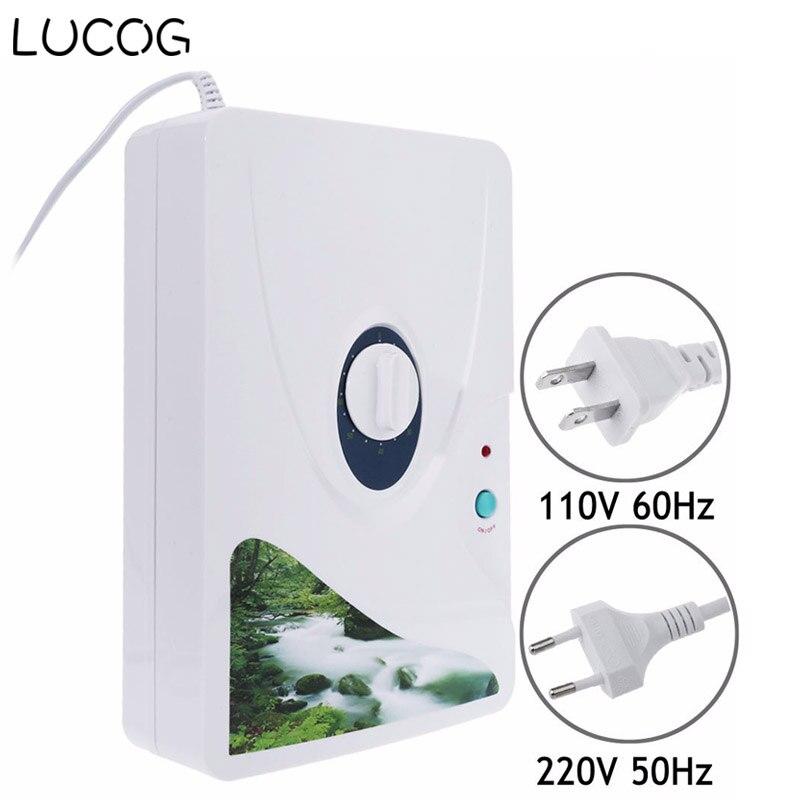 LUCOG 600 mg/h Generatore di Ozono Ozonizzatore Purificatore D'aria Ruota Timer Frutta Verdura Carne Ionizzatore D'aria Sterilizzatore 220 V o 110 V