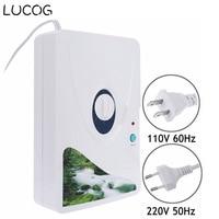 LUCOG 600mg/h Ozone Generator Ozonator Air Purifier Wheel Timer Vegetable Fruit Meat Air Ionizer Sterilizer 220V or 110V