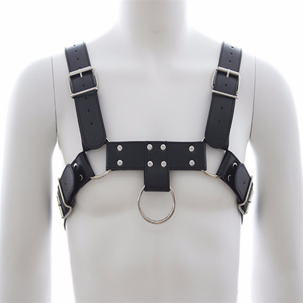 Bdsm PU Leather Bondage Male Chest Harness Fetish Restraint Straps Belts,Fetish Erotic Sex Games Adult Products Toys For Men fetish sex furniture harness making love sex position pal bdsm bondage product erotic toy swing adult games sex toys for couples