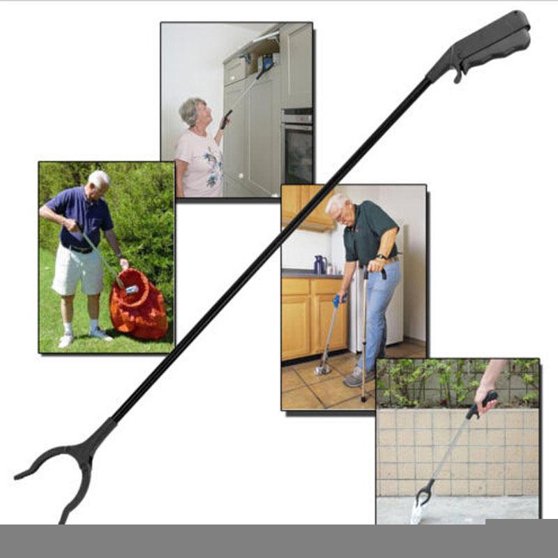 Long Grabber Tool 60cm Long Arm Litter Picker Rubbish Debris Picker Reaching Tool Grabber Black Pick Up Tools Reachers