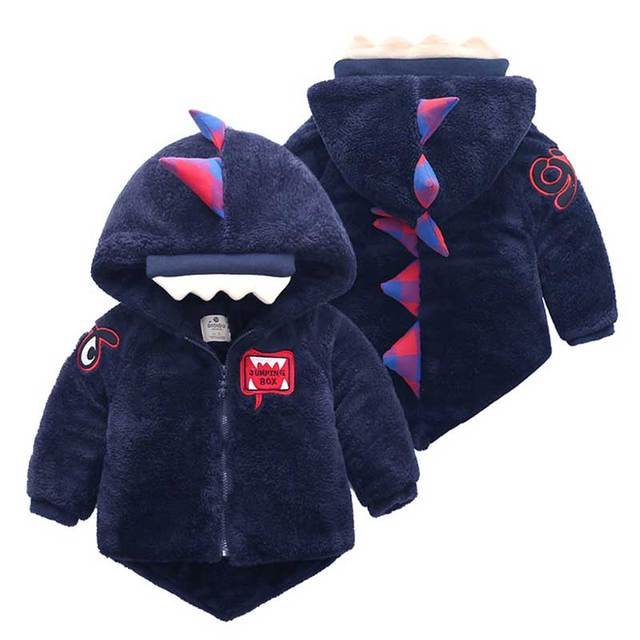 3a4d45825 18M 4T Down Coats Cute Dinosaur Shape Baby Clothes Winter Jacket for ...