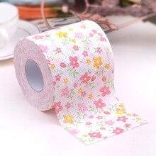 3packs 30m/pack lovely flower theme Printed napkin Paper Toilet Tissues Roll Novelty Tissue Wholesale