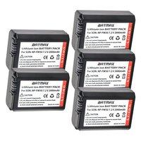 5Pcs 2000mAh Bateria NP FW50 NPFW50 NP FW50 Batteries for Sony NEX 5 NEX 7 SLT A55 A33 A55 A37 A3000 A5000 A51000 A6000 Cameras
