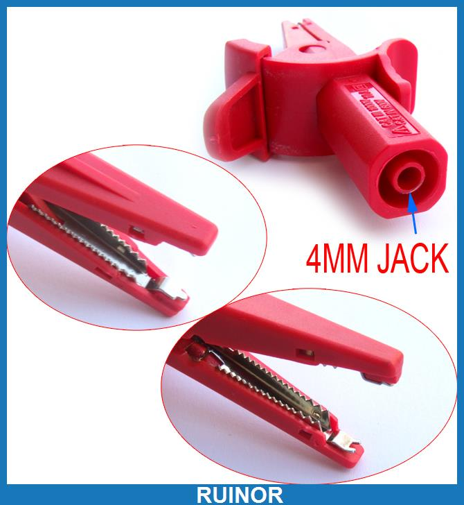 цена на 4pcs 1000V 10A Alligator Clip for 4mm Banana Plug Test Probe HV Test Clips