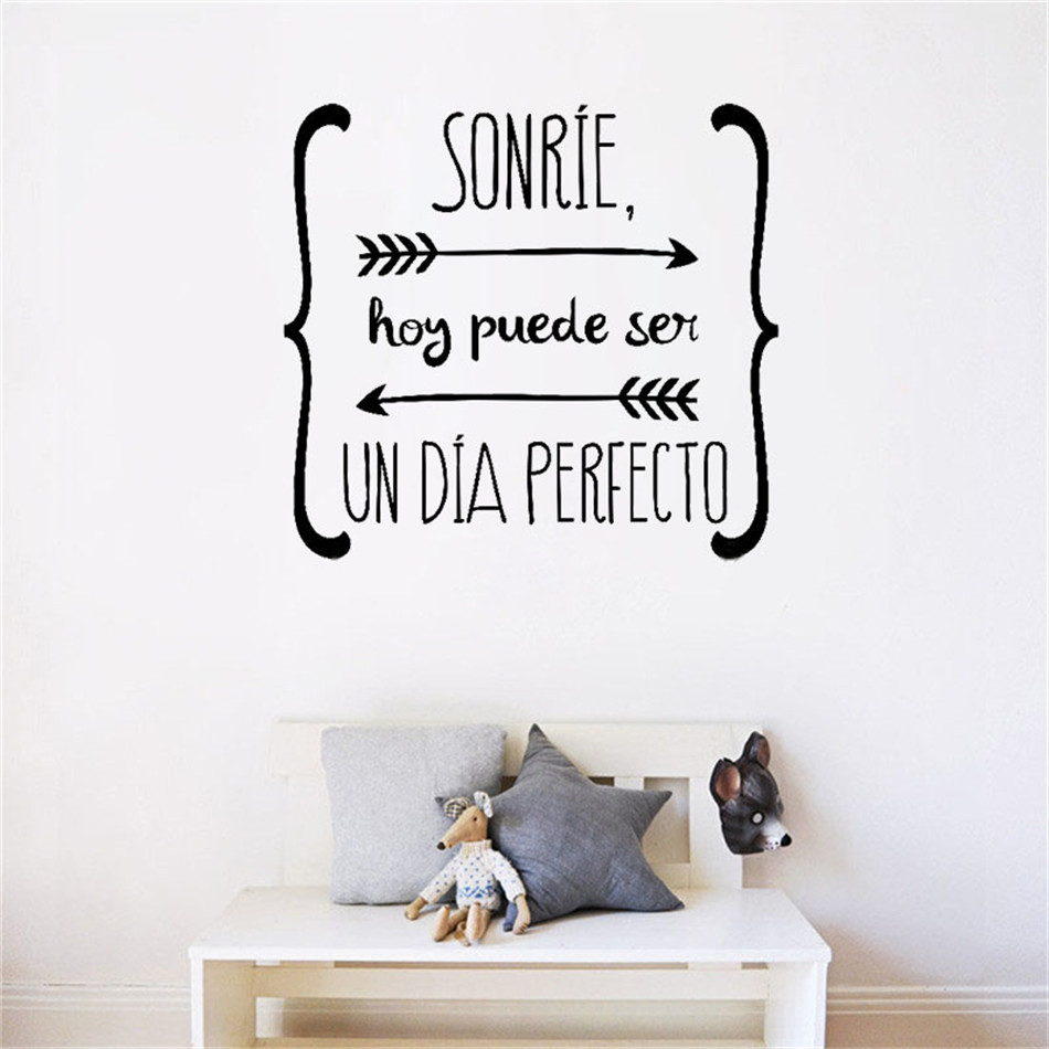 Spanish wall diy stickers quote quote walls decals poster for Diy room decor quotes