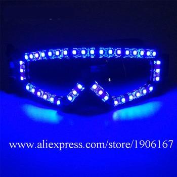 Super Bright Led Luminous Glasses Halloween DJ Nightclub Party Light Up Glasses Dance Stage Props