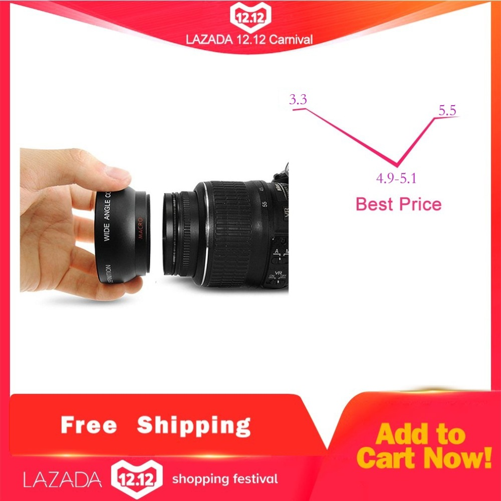 New Arrival 1set 52MM 0.45x Wide Angle Macro Lens for Nikon D3200 D3100 D5200 D5100 High Resolution Macro Lens drop shipping image
