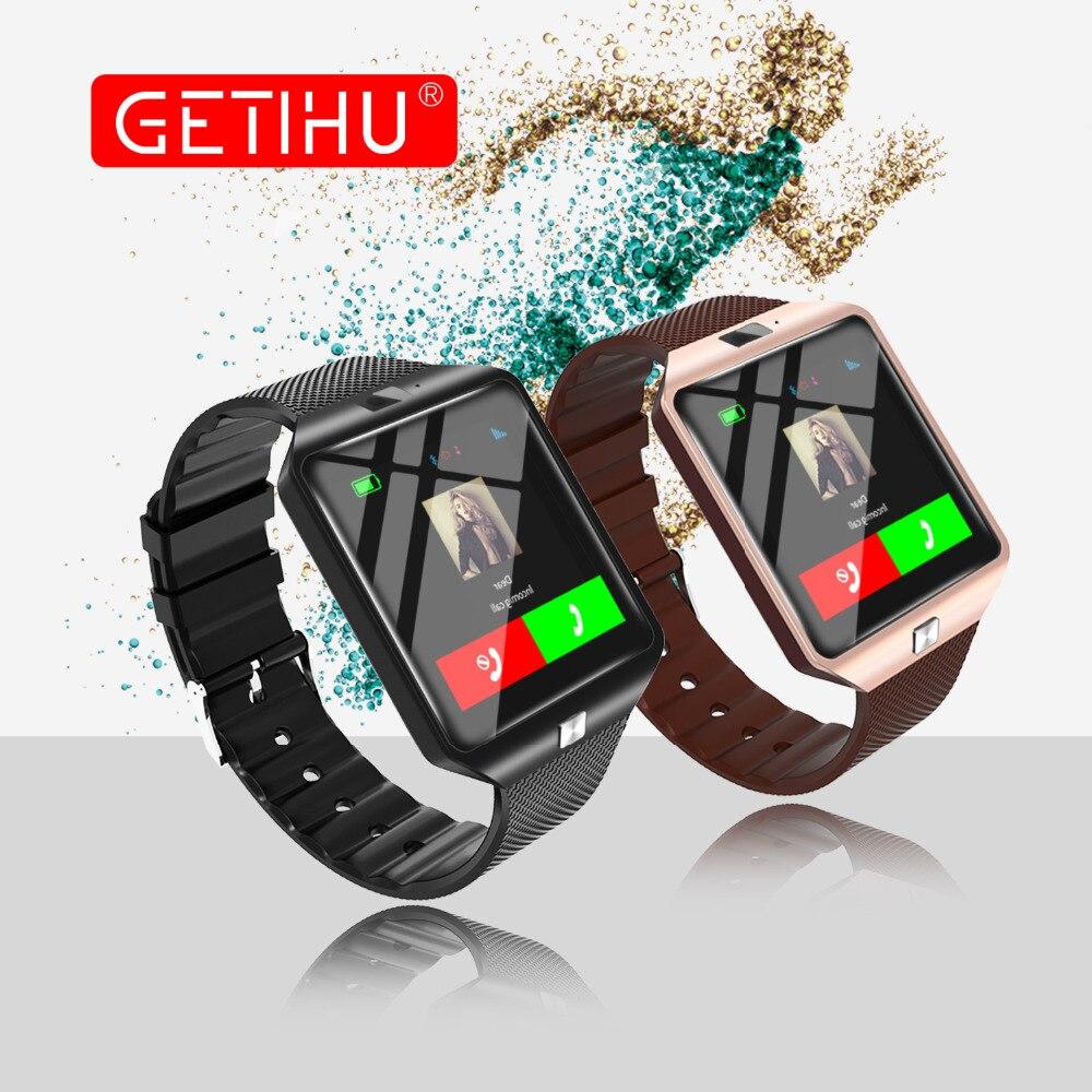 GETIHU Smart Montres DZ09 Numérique Sport Tactile Montre Hommes Bluetooth Smartwatch Pour iphone Android Samsung Intelligent Montre-Bracelet Téléphone