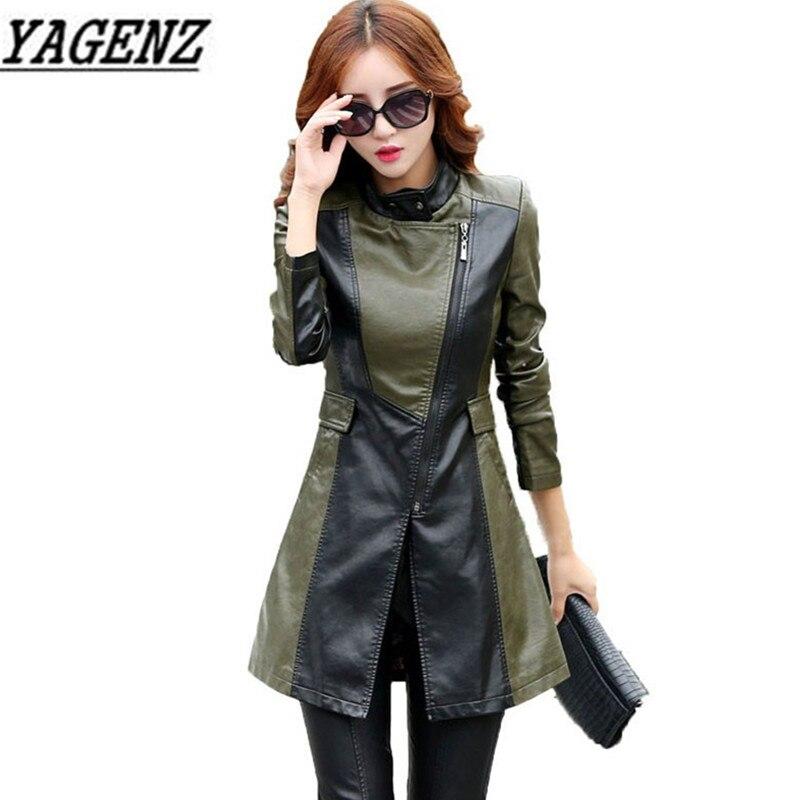Simili cuir veste en cuir synthétique polyuréthane Punk Rivet femmes moto veste Style Punk noir Faux cuir manteau survêtement Punk - 2