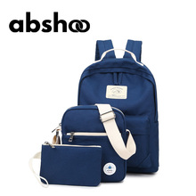 Милый холст рюкзак для подростков модная одежда для девочек рюкзак 3 пакета(ов) спортивные сумки на плечо кошелек