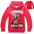 Meninos outerwear roupa dos miúdos dos meninos hoodies e moletons camiseta dinossauro parque de dinossauros para crianças roupas meninos