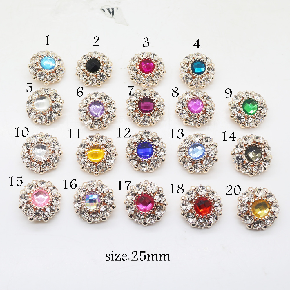 5 pcs 25 * 20mm Water Drop pearl Rhinestone button Invitation DIY Ribbon Accessores Wedding Decorative.
