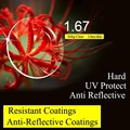Lente UV CR-39 lentes de Resina asféricas 1.67 Lentes Ultra fino Revestimento Reflexivo Vidros Ópticos Miopia Presbiopia Óculos de Leitura