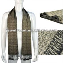 Men's winter wear classic woolen scarves tartan shawl striped viscose echarpe men fashion accessories, NL-1834