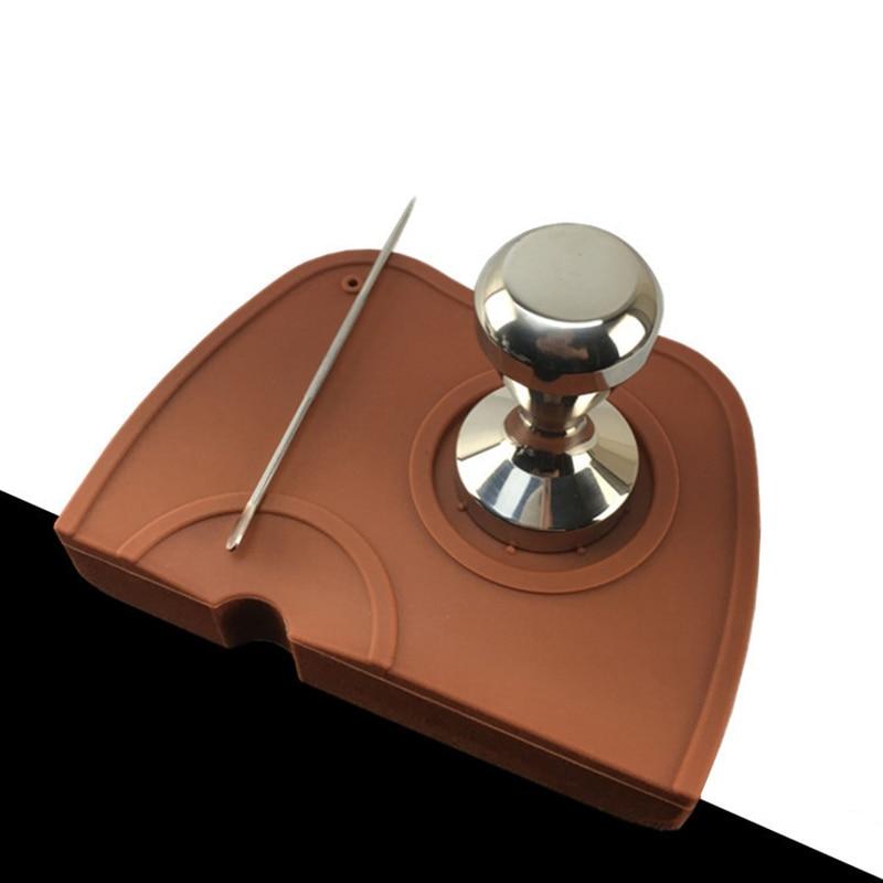 Espresso Mat Coffee Tamper Tamping Holder Silicone Pad Anti-slip Dropped Edge G